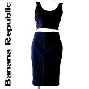 Banana Republic Black Pencil Skirt  - Size 2